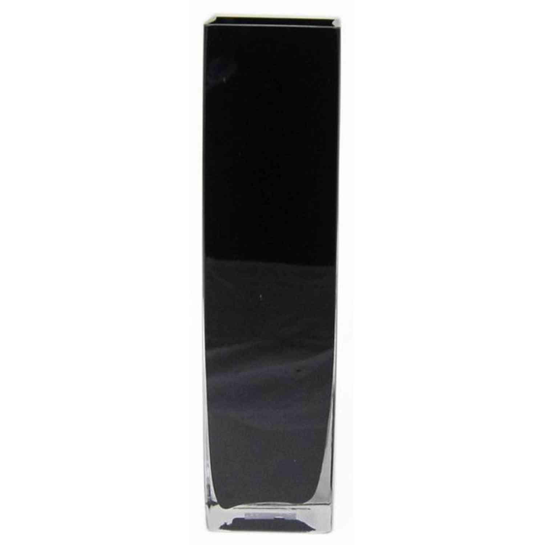 Détails sur Vase à poser au sol LEON, cubique, noir, 10x10x10cm - Grand  vase de décoration
