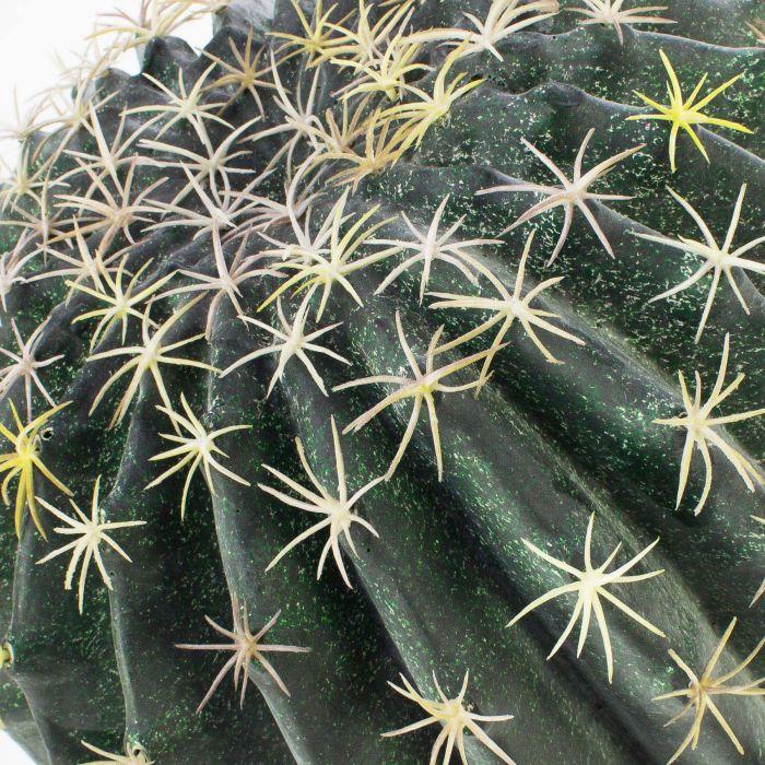 artplants Künstlicher Schwiegermutterstuhl ELVIO Dekotopf grün-gelb 35cm Kaktus