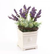 Deko Lavendel Sedum Gesteck NORDIKA Dekotopf, lila, 30cm, Ø18cm