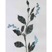 Kunstzweig Schneebeere ELYSA, gefroren, blau, 75cm