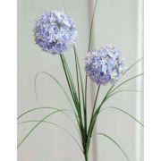 Kunstgras Allium LAIZA auf Steckstab, blau-lila, 65cm