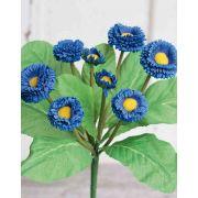 Kunst Gänseblümchen PEGGY auf Steckstab, blau, 25cm