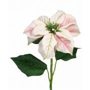Kunst Poinsettia MARRIT, weiß-rosa, 70cm, Ø20cm