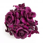 Textil Kerzenkranz INGA, Rose, Hortensie, violett, Ø10cm