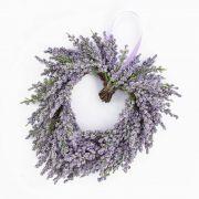Kunst Lavendelherz SENJA, violett, Ø20cm
