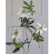 Kunst Passionsblume JULANDA, weiß-lila, 100cm
