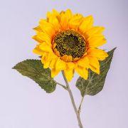 Textil Sonnenblume SILJA, gelb-orange, 65cm, Ø13cm