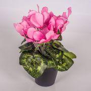 Kunstblume Alpenveilchen HEIDI im Dekotopf, rosa, 25cm, Ø5-8cm