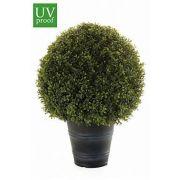 Künstlicher Buchsbaum TOM im Übertopf, crossdoor, 70cm, Ø45cm