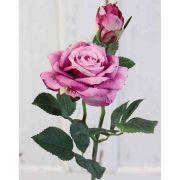 Künstliche Rose SINJE, violett, 35cm, Ø9cm