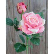 Künstliche Rose SINJE, rosa-grün, 35cm, Ø9cm