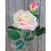 Künstliche Rose SINJE, creme-rosa, 35cm, Ø9cm