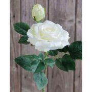 Künstliche Rose SINJE, creme-weiß, 35cm, Ø9cm
