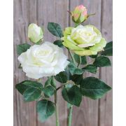Künstliche Rose SINJE, creme-grün, 35cm, Ø9cm
