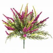 Kunstblume Erika ALMINA auf Steckstab, pink, 20cm, Ø0,5cm