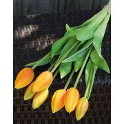 Künstlicher Tulpenstrauß LONA, hellorange-grün, 45cm, Ø20cm