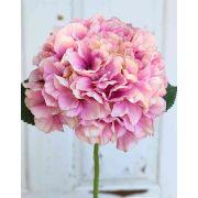 Kunst Hortensie MALENA, rosa, 40cm, Ø19cm