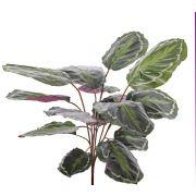 Kunst Calathea Medaillon BRIHANNA auf Steckstab, grün, 75cm