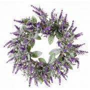 Kunst Lavendelkranz LODOS, violett, Ø30cm