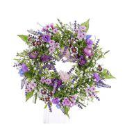 Kunst Sommerkranz FEDORA, Lavendel, Lathyrus, lila, Ø30cm