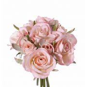 Kunst Rosenstrauß ROSILA, rosa, 20cm, Ø15cm