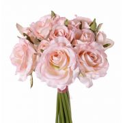 Kunst Rosenstrauß ROSILA, rosa, 25cm, Ø20cm
