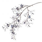 Kunst Schneebeeren Zweig GESA mit Beeren, blau, 100cm