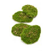 Kunst Deko Moos Stücke HEFEI, 4 Stück, grün, 11x15x5cm