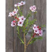 Kunst Wachsblume AISHA, rosa, 25cm, Ø1-1,5cm