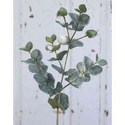Künstlicher Eukalyptus Zweig INGOLF, grün-grau, 55cm