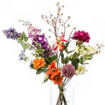 Selbstgebundene Blumensträuße